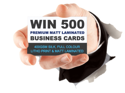 Fancy 500 FREE Matt Laminated Business Cards?