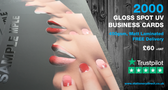 Gloss Spot UV Business Cards