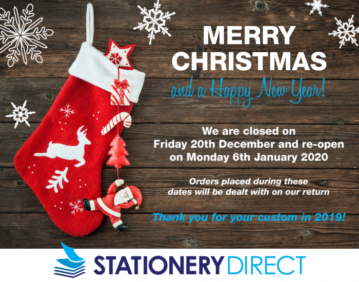 Christmas Closure Dates 2019