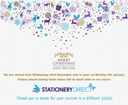 Christmas Closure Dates 2020